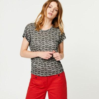 Tshirt manches courtes en lin Tshirt manches courtes en lin MONOPRIX 8baf26eb106a