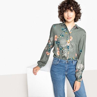 Camisa estampada de flores, manga larga Camisa estampada de flores, manga larga VILA