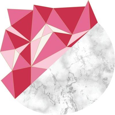 Tapis Vinyle déco scandinave Aventurine - Diam. 100 cm - Rose Tapis Vinyle déco scandinave Aventurine - Diam. 100 cm - Rose SUD CARGO