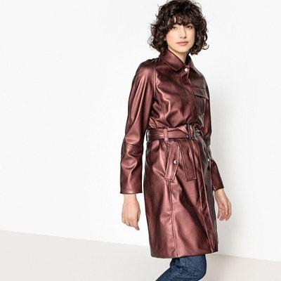 Manteau marron femme