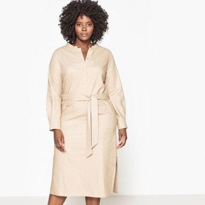 Belted Linen Dress CASTALUNA