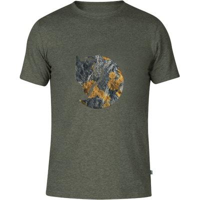 22afabb2a6a52 Rock Logo - T-shirt manches courtes Homme - gris FJALLRAVEN