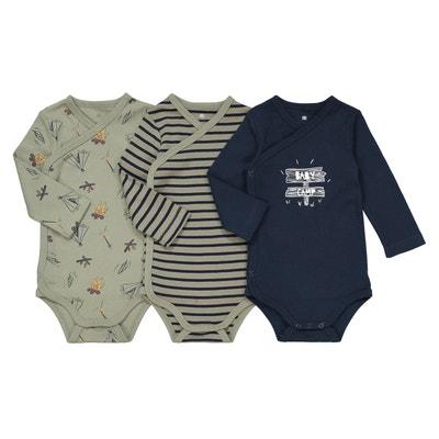 Lot de 3 bodies naissance coton bio préma -2 ans La Redoute Collections