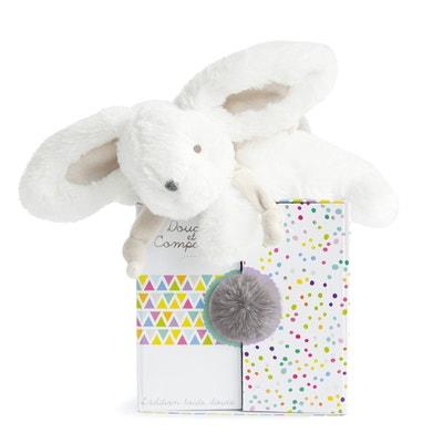 DC2823 Coucou Rabbit Comfort Blanket - Pearl DOUDOU ET COMPAGNIE