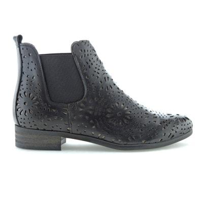 Boots in leer met ajour effect Zola Boots in leer met ajour effect Zola BUNKER