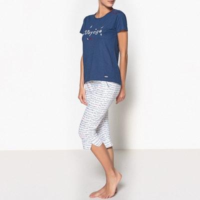 Пижама с рисунком с укороченными брюками из биохлопка, Oceane Пижама с рисунком с укороченными брюками из биохлопка, Oceane DODO