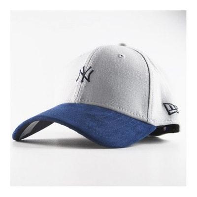 Casquette New Era New York Yankees 3930 Suède Viz Logo Grise Bleu NFL NEW  ERA 1523d5f5d234