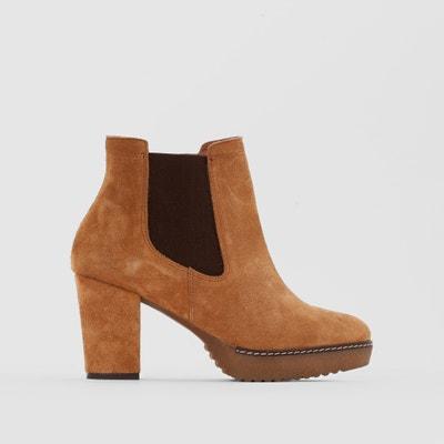 Wide-Fit Suede Boots CASTALUNA