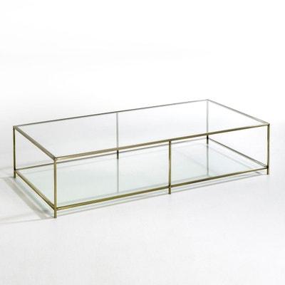 Table de jardin alu et verre trempe   La Redoute