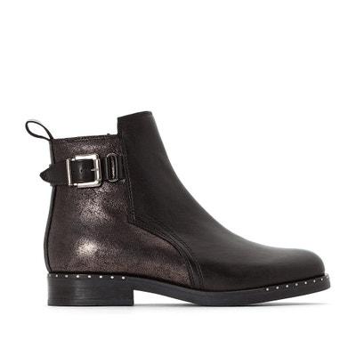 Boots in pelle con fibbia Exclusivité La Redoute Boots in pelle con fibbia Exclusivité La Redoute JONAK