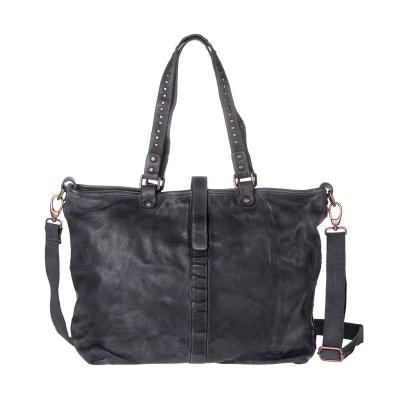 3dde055c54a Sac pour femme retro vintage à bandoulière Grand Sac shopping en cuir  véritable avec clous métalliques