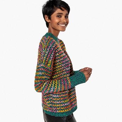 Trui in dik tricot met opstaande kraag Trui in dik tricot met opstaande kraag La Redoute Collections