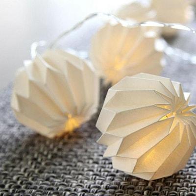 PAPER FLOWER-Guirlande Lumineuse Origami LED à pile L2,75m PAPER FLOWER-Guirlande Lumineuse Origami LED à pile L2,75m XMAS LIVING GLASS