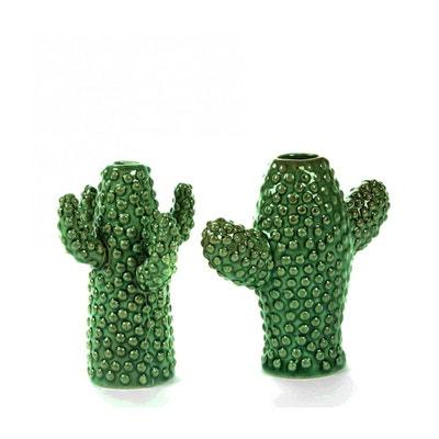 Vase Cactus Mini Porcelaine Verte set de 2  H 12 cm Serax Vase Cactus Mini Porcelaine Verte set de 2  H 12 cm Serax SERAX