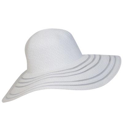 Chapeau capeline blanc semi-transparente CHAPEAU-TENDANCE