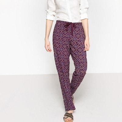 Lejące spodnie od piżamy, sznurek do wiązania Lejące spodnie od piżamy, sznurek do wiązania La Redoute Collections