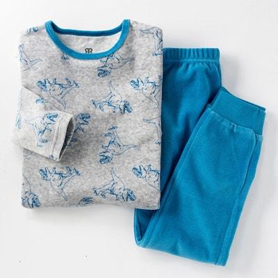 Pijama em veludo com motivo dinossauros, 3-12 anos Pijama em veludo com motivo dinossauros, 3-12 anos La Redoute Collections
