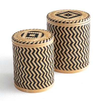 Cajas e bambú trenzado (lote de 2) BACHA La Redoute Interieurs