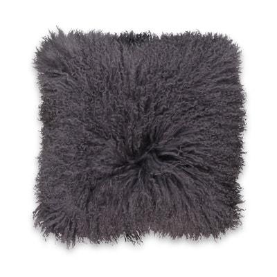 Osia Fluffy Mongolian Wool Cushion Cover Osia Fluffy Mongolian Wool Cushion Cover La Redoute Interieurs