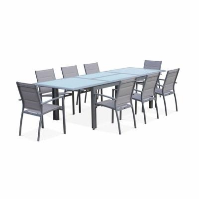salon de jardin table extensible philadelphie gris clair table en aluminium 200300cm - Table Jardin Rallonge