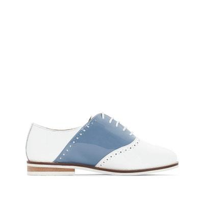 Sapatos derbies envernizados e bicolores, em pele Sapatos derbies envernizados e bicolores, em pele La Redoute Collections