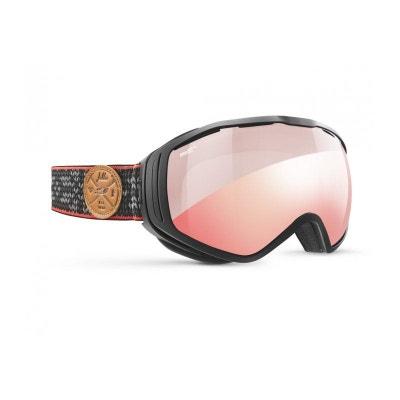 9fbd37cded4fe5 Masque de ski mixte JULBO Noir TITAN Noir Jacquard - Zebra Light Red Masque  de ski