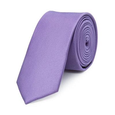 Cravate fine en pure soie lisse Cravate fine en pure soie lisse BRUCE FIELD