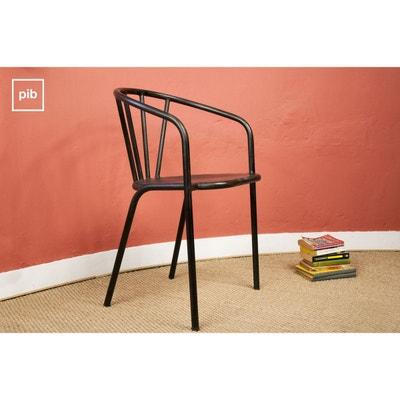 chaise metallique noire la redoute. Black Bedroom Furniture Sets. Home Design Ideas