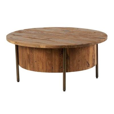 Table Basse Bois Massif Clair En Solde La Redoute