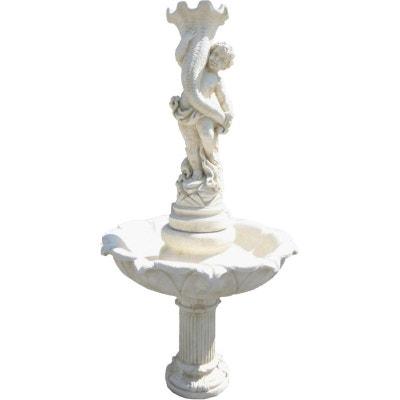 Fontaine avec enfant en pierre reconstituée Fontaine avec enfant en pierre reconstituée DECO GRANIT
