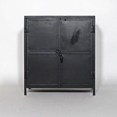 buffet industriel mtal et bois 2 portes mim4293 buffet industriel mtal et bois made in meubles