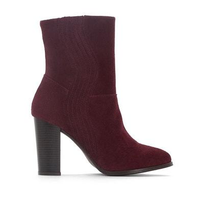 Boots cuir élastique forme vague Boots cuir élastique forme vague LA REDOUTE COLLECTIONS