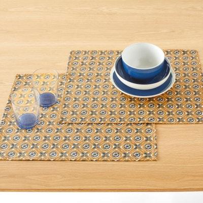 2 Tischsets ORIANE, beschichtete Baumwolle 2 Tischsets ORIANE, beschichtete Baumwolle La Redoute Interieurs
