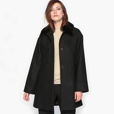 Cape Style Coat with Faux Fur Collar Cape Style Coat with Faux Fur Collar ANNE WEYBURN