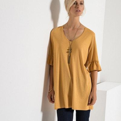 T-shirt tunique, manches fantaisie, coton et modal T-shirt tunique, manches fantaisie, coton et modal ANNE WEYBURN