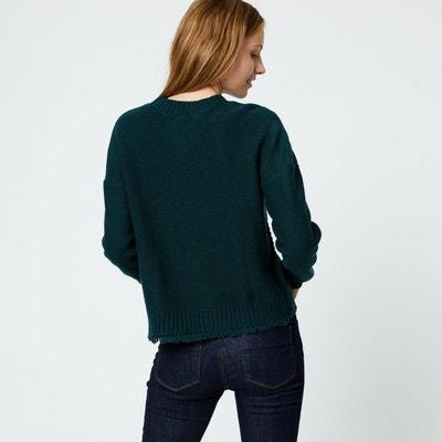 Pull en point fantaisie contenant de la laine MONOPRIX 93354f36796d