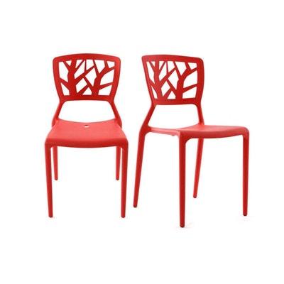 chaise rouge la redoute. Black Bedroom Furniture Sets. Home Design Ideas