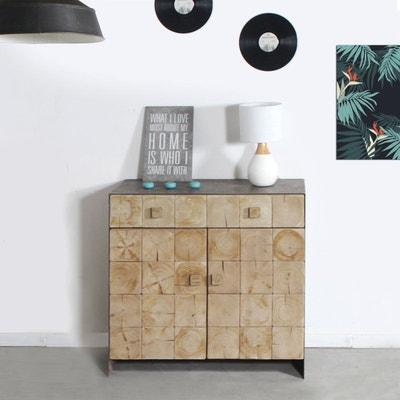 buffet industriel bois mtal finitions vintages 2 portes 2 tiroirs sn51 buffet industriel bois made in meubles