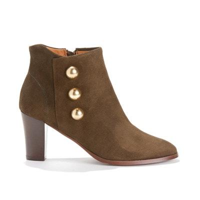 Boots cuir à bouton coloris doré Boots cuir à bouton coloris doré ANONYMOUS COPENHAGEN