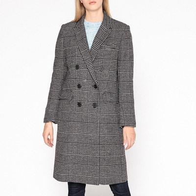 Manteau long à carreaux, laine mélangée MAE Manteau long à carreaux, laine mélangée MAE GERARD DAREL
