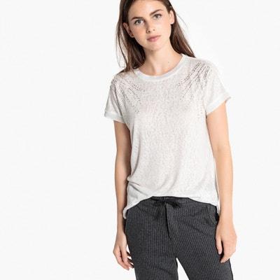 T-shirt met ronde hals en korte mouwen T-shirt met ronde hals en korte mouwen ONLY