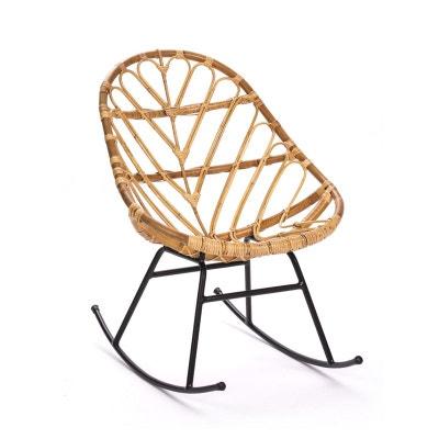 Rocking chair en rotin Ette Rocking chair en rotin Ette DRAWER