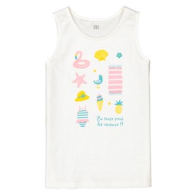 Camiseta sin mangas estampada 3-12 años Camiseta sin mangas estampada 3-12 años La Redoute Collections