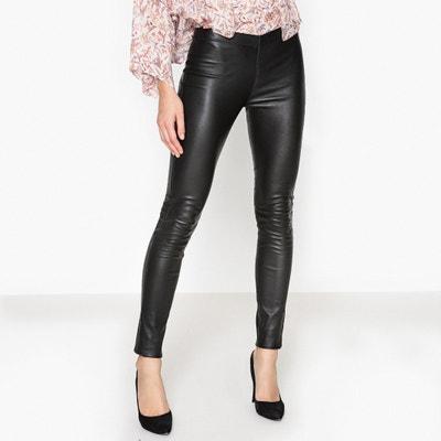 Pantalon slim en cuir ASTEROÏDE OAKWOOD