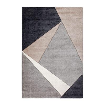 tapis gomtrique pour salon taupe moderne viki deladeco - Tapis Taupe