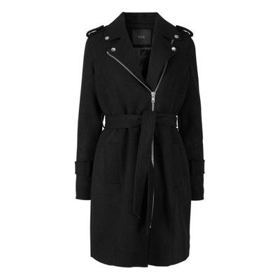 Halblanger Mantel mit Reissverschluss Halblanger Mantel mit Reissverschluss YAS