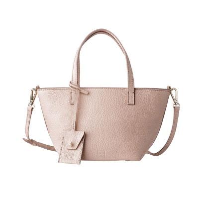 Mini Sac Petit sac pour femme en Cuir Véritable Fermeture zippée avec  Bandoulière amovible et Double 66c79f8cffff