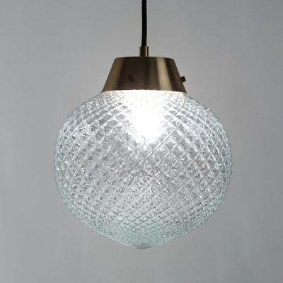 Lámpara de techo de vidrio y latón Lámpara de techo de vidrio y latón MAISON PÈRE X LA REDOUTE