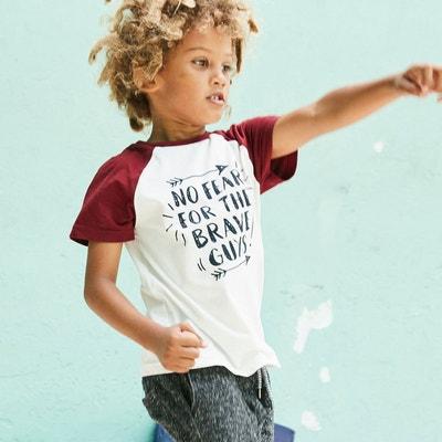 T-shirt motif texte 3-12 ans La Redoute Collections