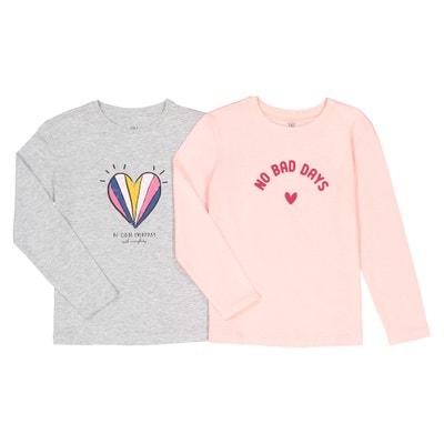 Komplet 2 t-shirtów z długim rękawem 3-12 lat Komplet 2 t-shirtów z długim rękawem 3-12 lat La Redoute Collections
